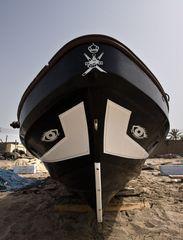 Fischerboot am Strand von Barka