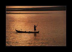 Fischerboot auf dem Irrawady
