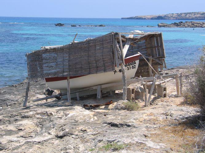 Fischerboot auf Formentera