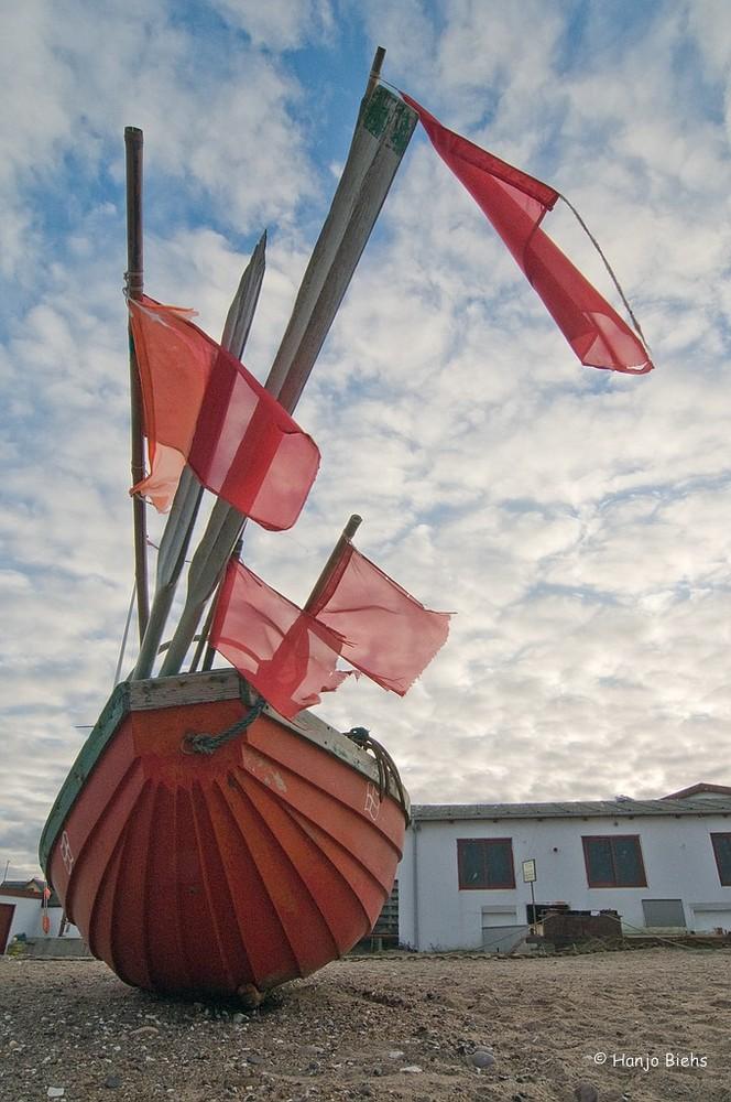Fischerboot im Hafen von Klimøller Dänemark