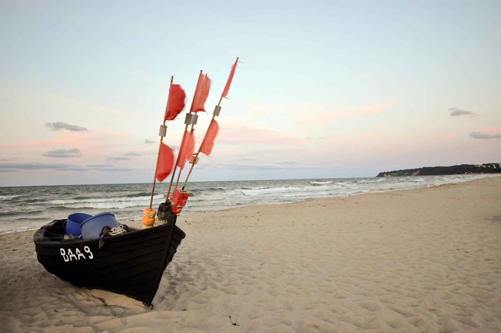 Fischerboot in Baabe auf Rügen