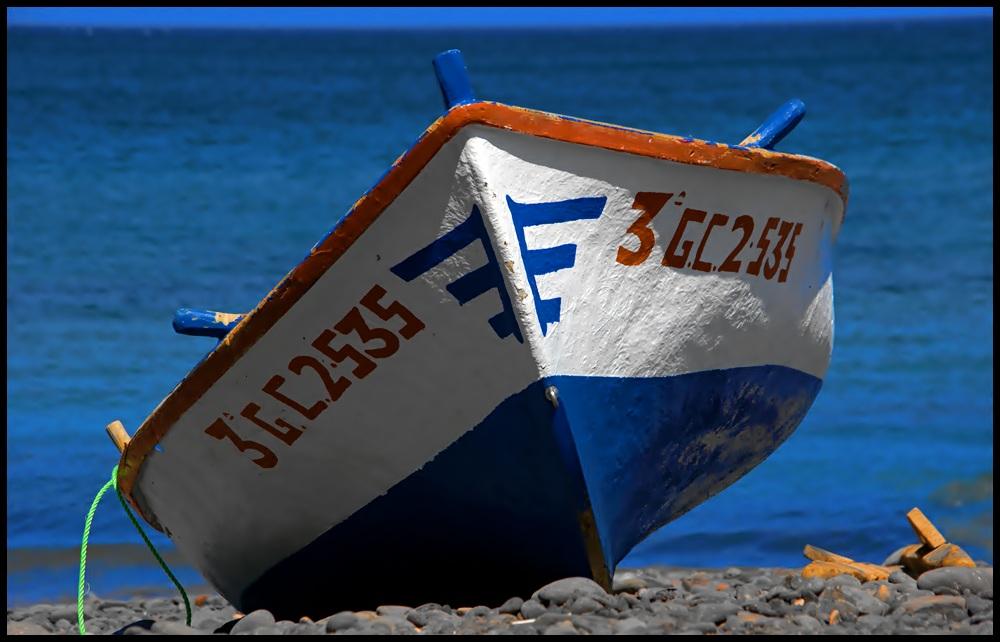 Fischerboot in Pozo Negro