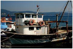 Fischerboote am Bosporus...
