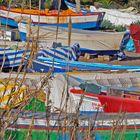 Fischerboote am Strand, Costa del Sol
