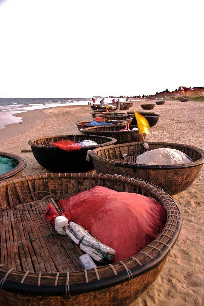 Fischerboote in Da Nang