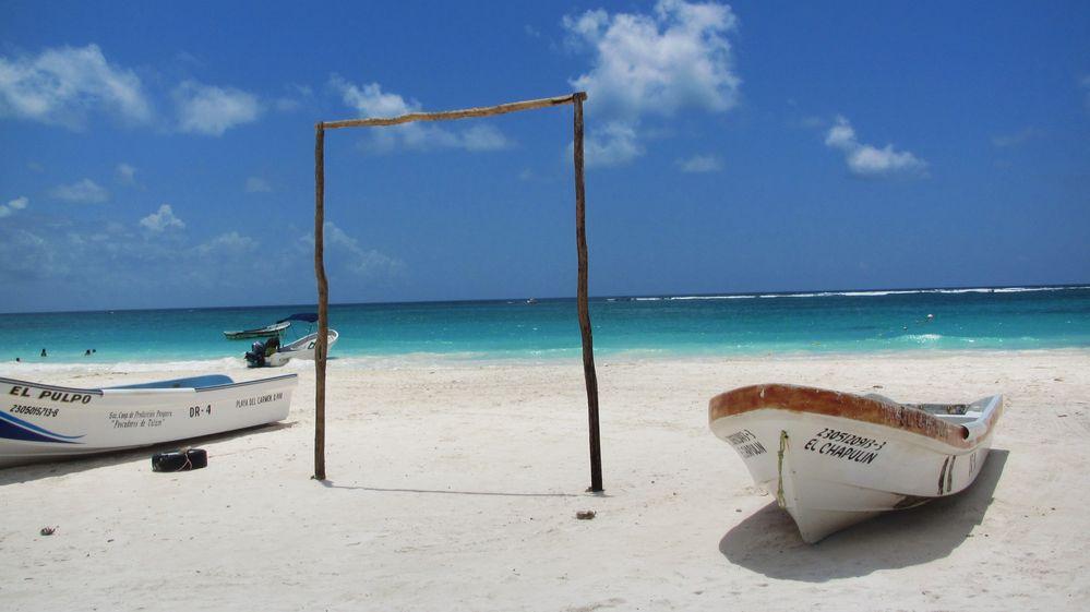 Fischerboote in der Karibik