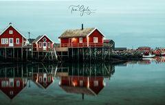 Fischerdorf Reine, Lofoten Norwegen