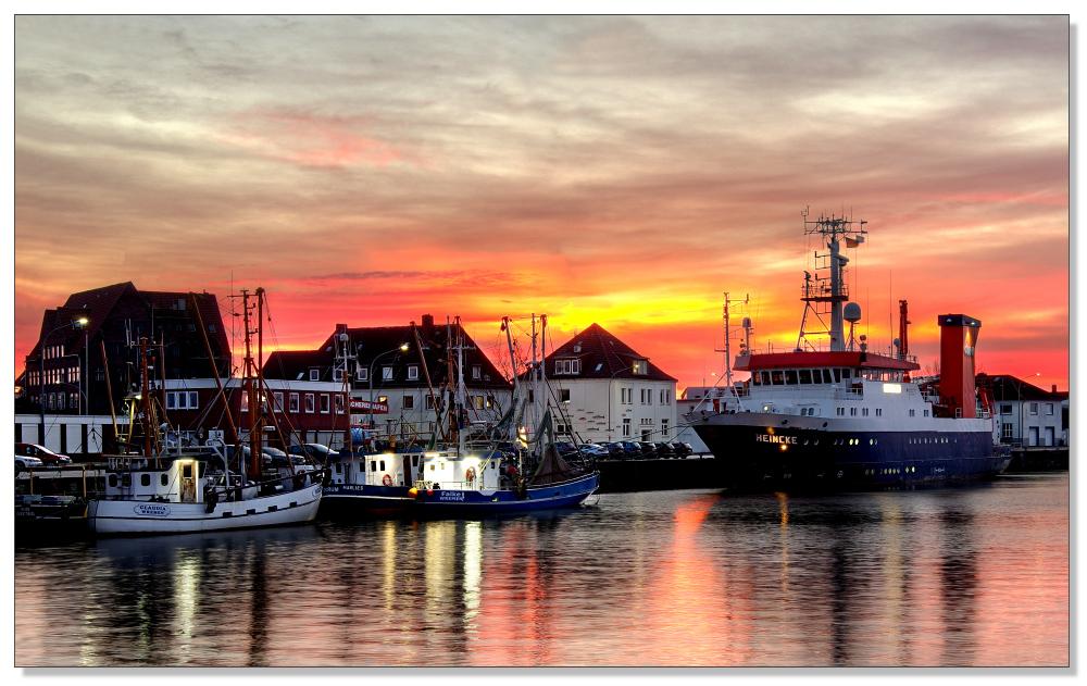 Fischereihafen Dämmerung