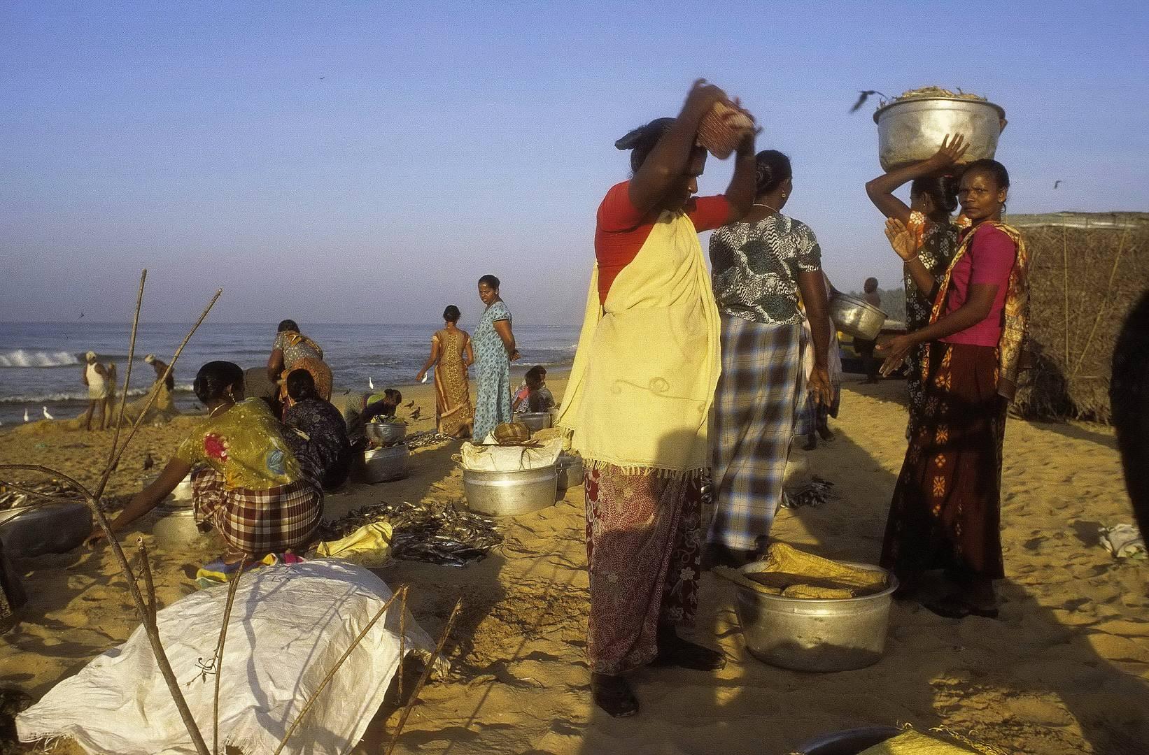 Fischerfrauen in Kerala - analog