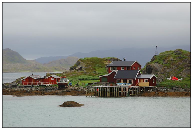 Fischerhäuser auf der Insel Magerøya