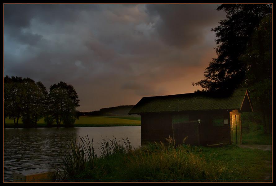 """"""" Fischerhütte im Abendlicht """""""