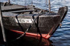 Fischerkahn auf der Eider