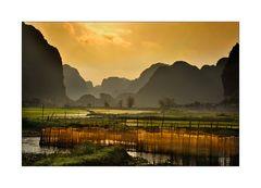Fischernetze bei Ninh Binh