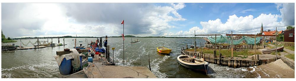 Fischersiedlung Holm - Seeseite Panorama