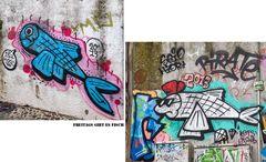 Fischiges Graffiti aus Lisboa