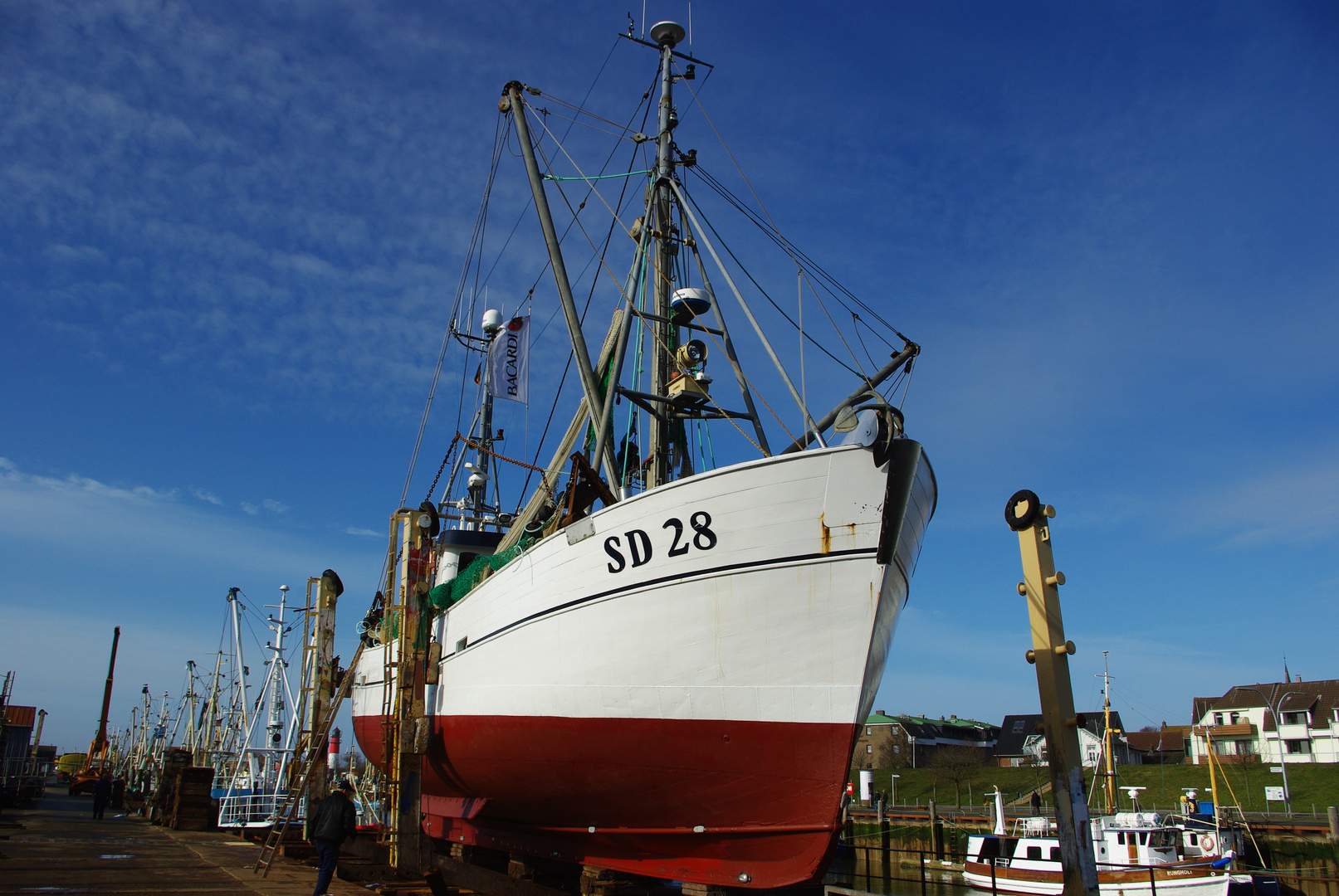 Fischkutter SD 28 Stella Polaris auf der Werft 2