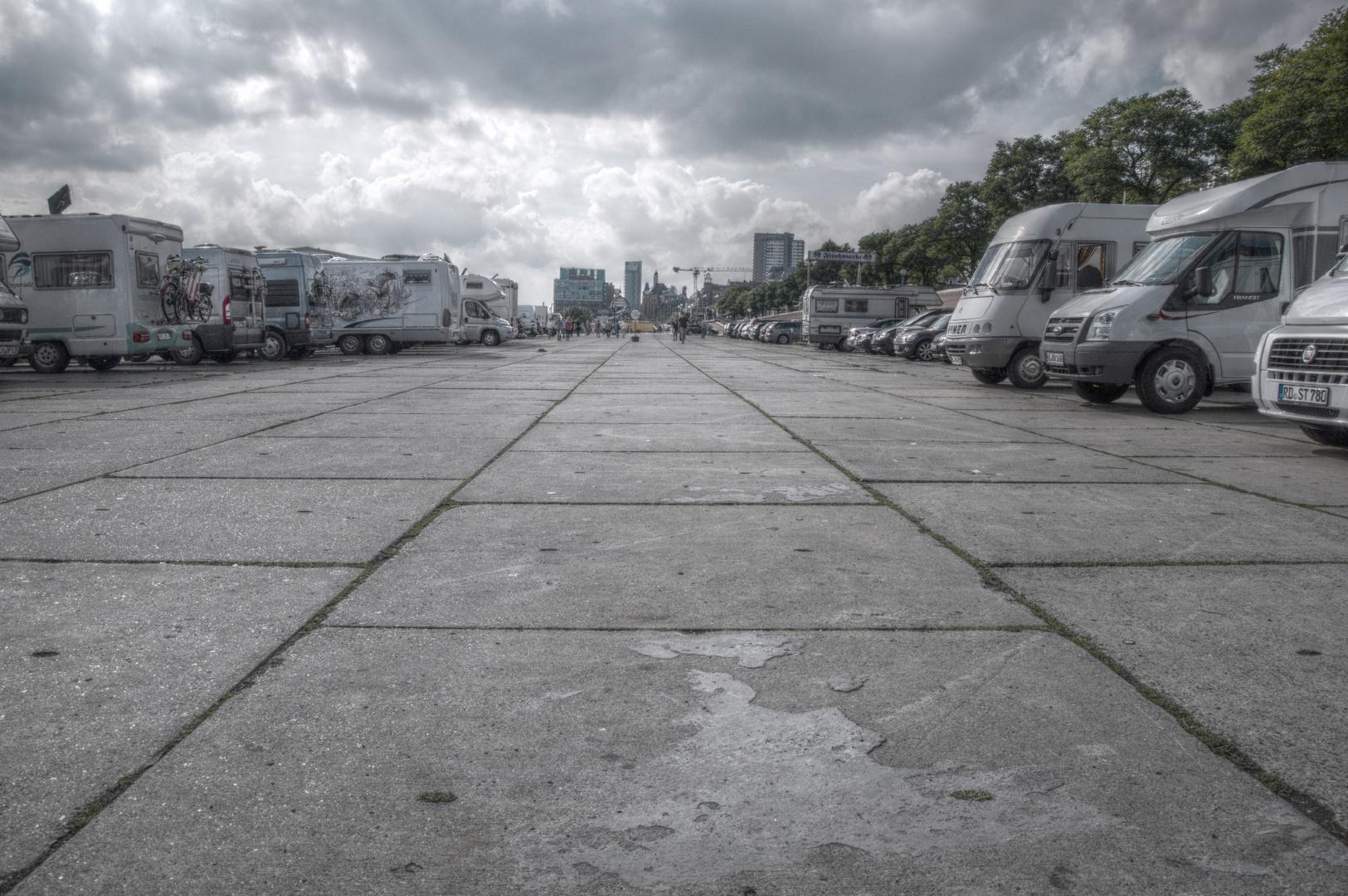 Fischmarkt als Parkplatz