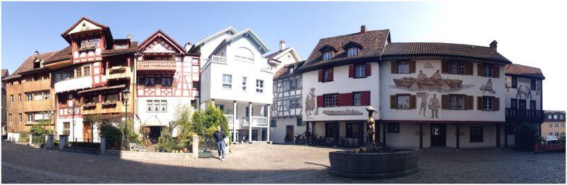 Fischmarktplatz in Arbon am Bodensee