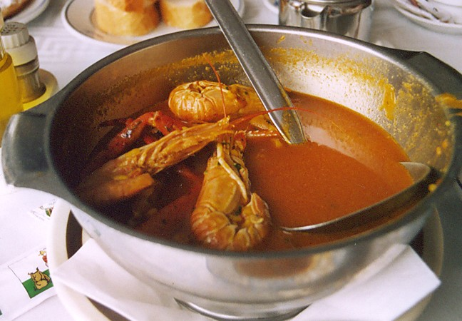 Fischsuppe in Cala Figuera