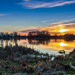 Fischteich im Sonnenuntergang