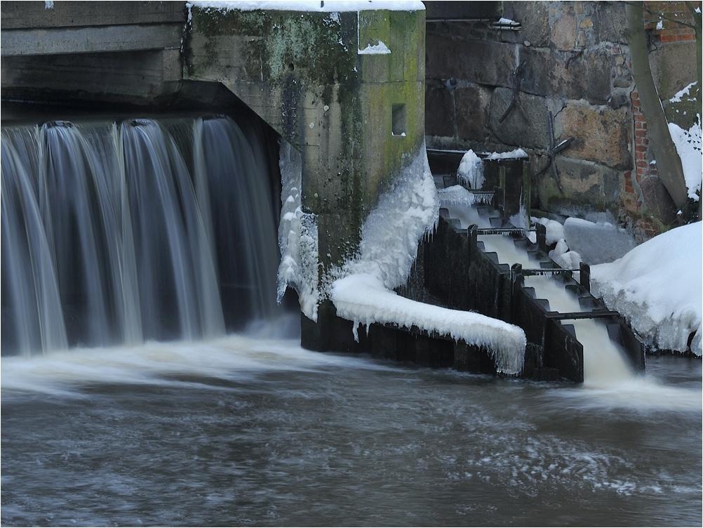 Fischtreppe im Winter 2010