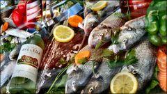 Fish in restaurant window