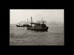 Fisher boat in Xiamen