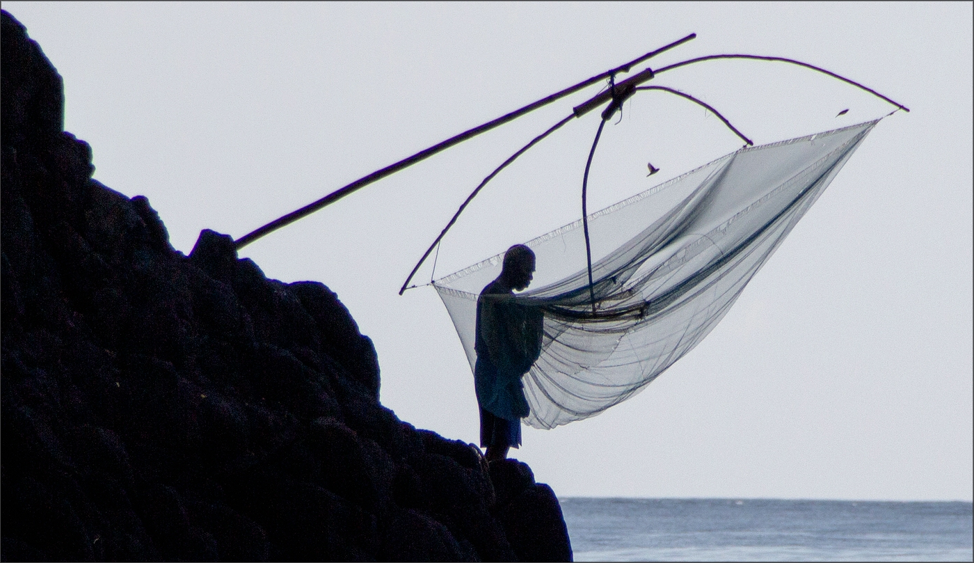 * Fisherman at work *