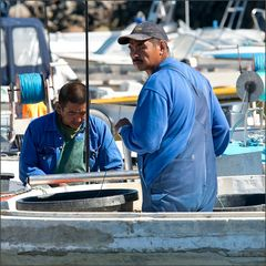 fishermen preparing their work