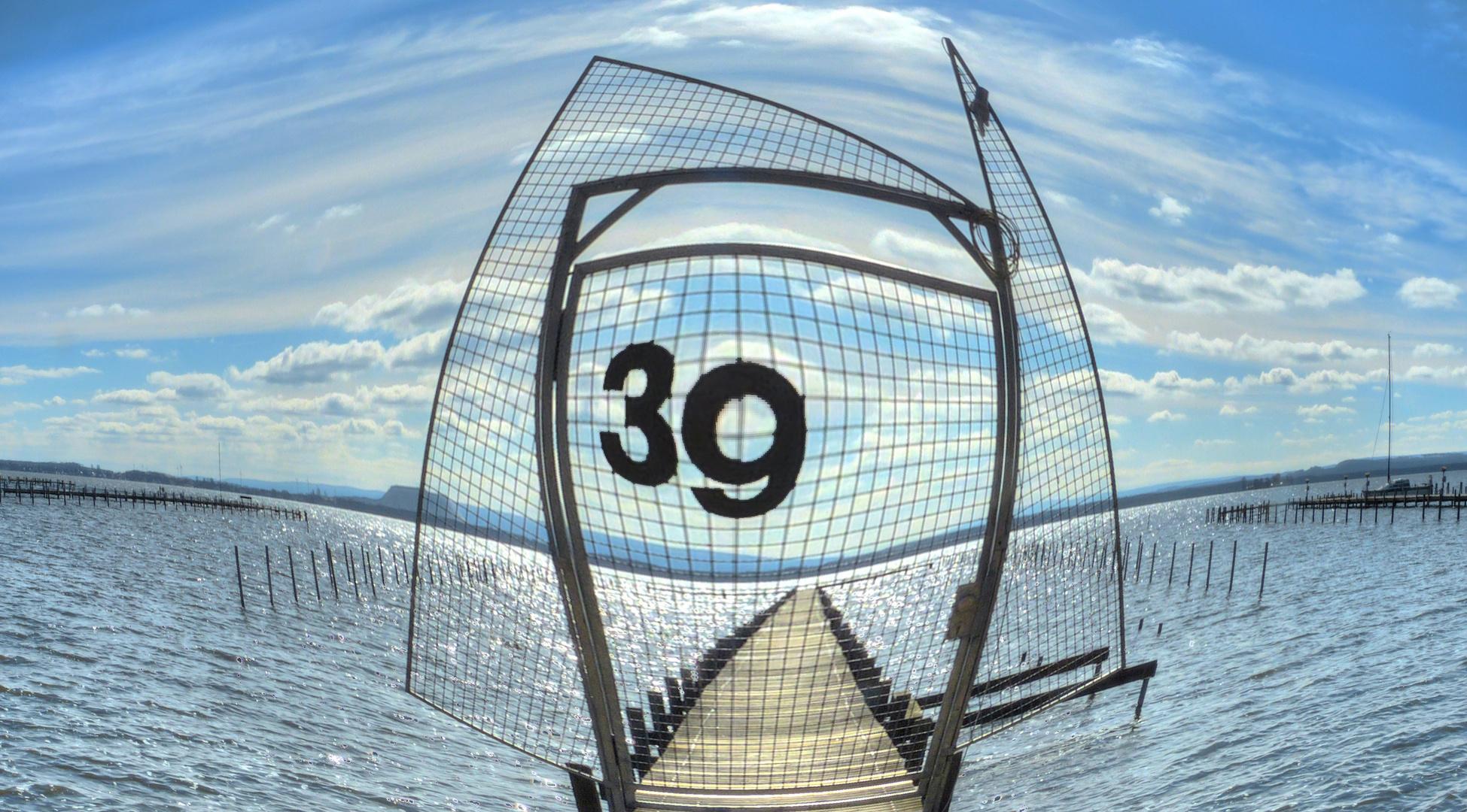 Fisheye Bild vom Steg mit der Nr. 39