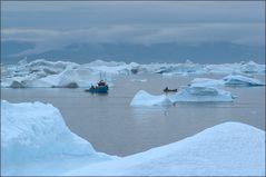 fishing among the icebergs