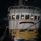 fishing at night on a beamtrawler