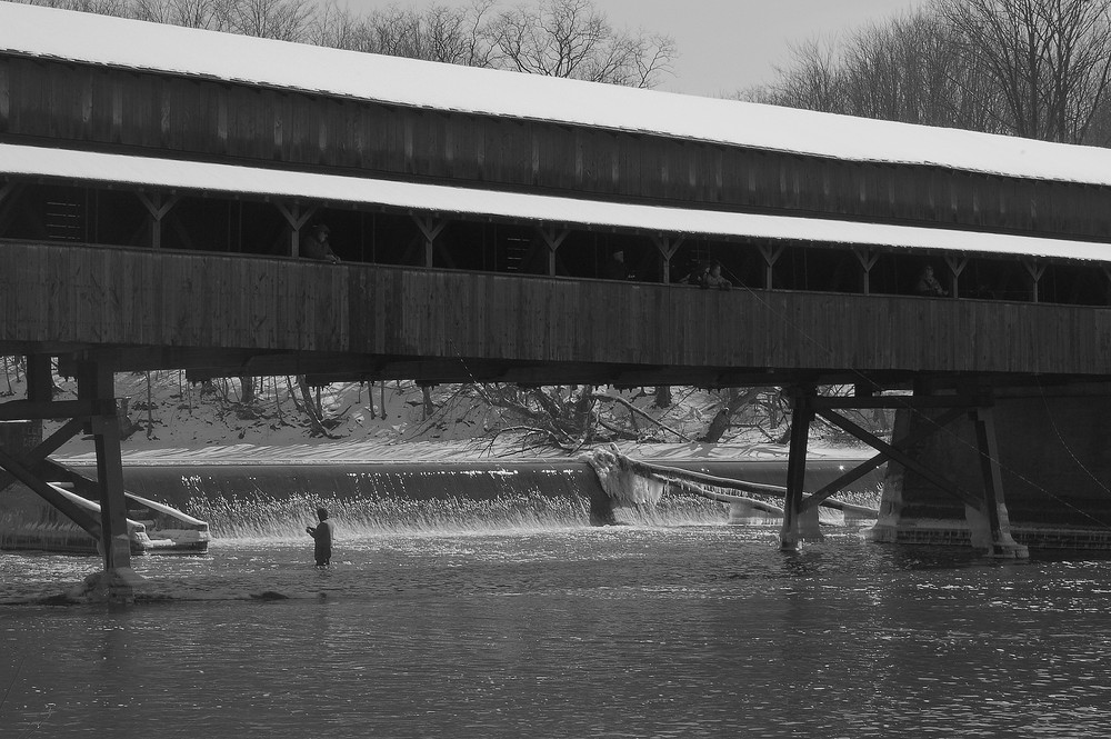 Fishing at the Covered Bridge