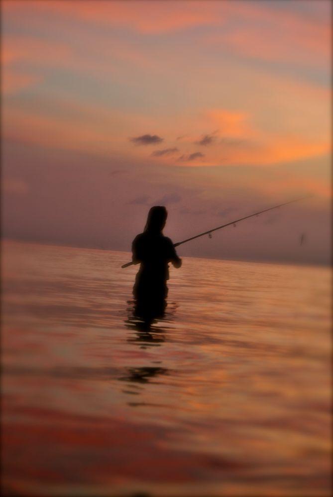 fishing between moon & sun von OP TI QUE
