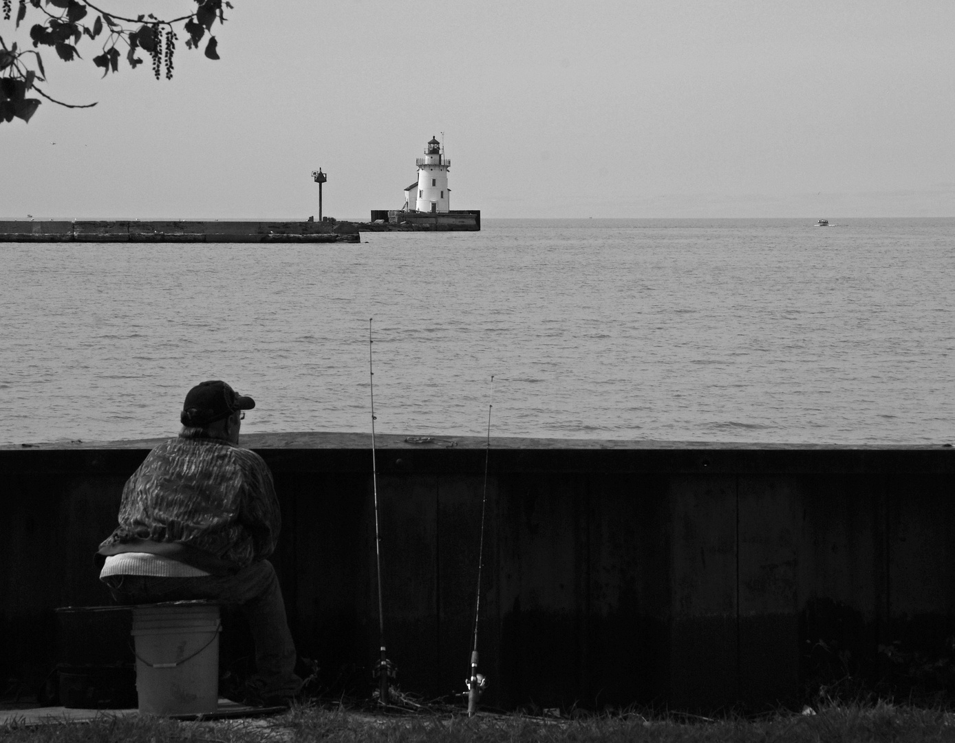 Fishing by the lighthouse 3