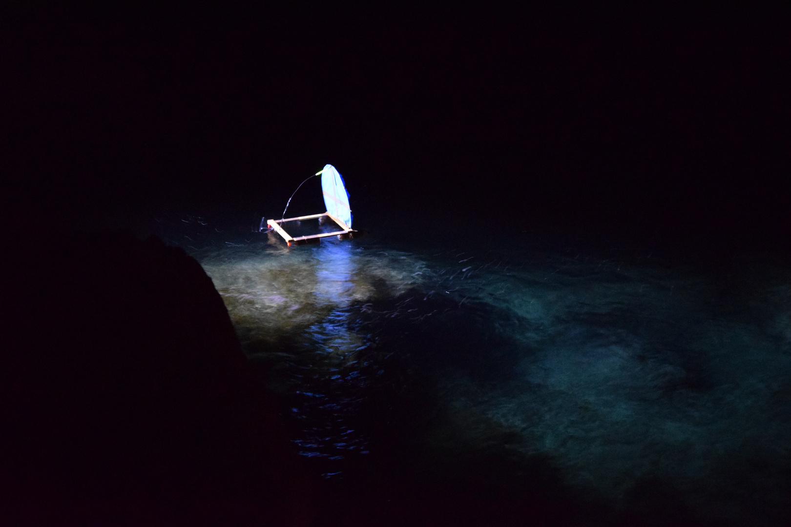 fishing with longline at night