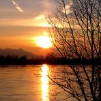 Fiume Po - Spessa (Pavia) al tramonto
