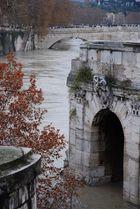 Fiume Tevere - ponte Rotto Isola Tiberina