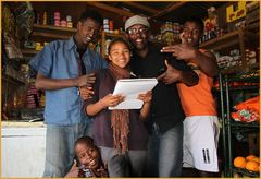 FIVE shop township ... near Capetown
