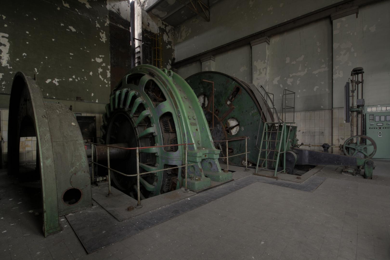 Flachseil fördermaschine