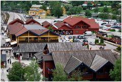 Fläm, piccolo villaggio tra montagne.