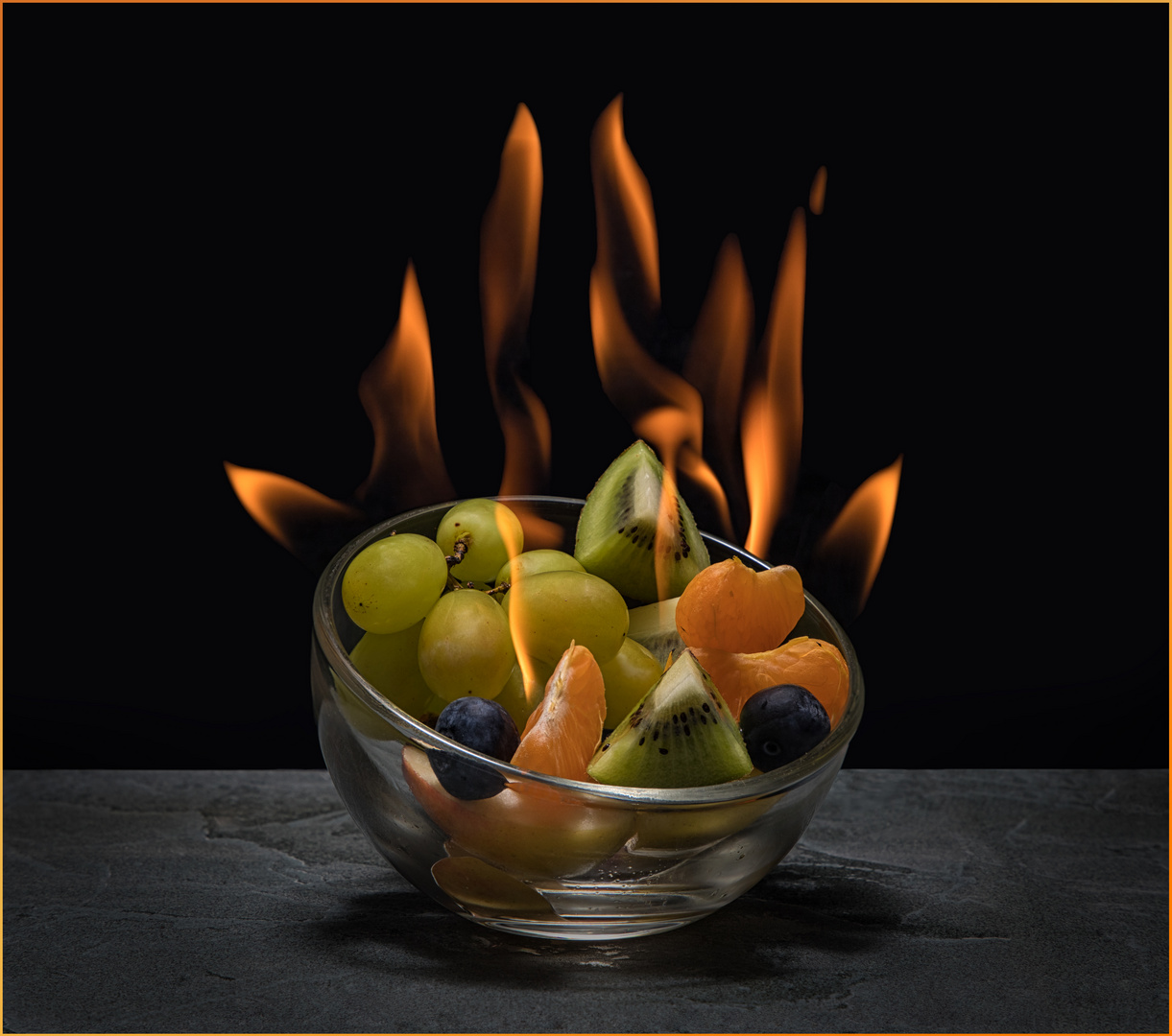 flambiertes Obst