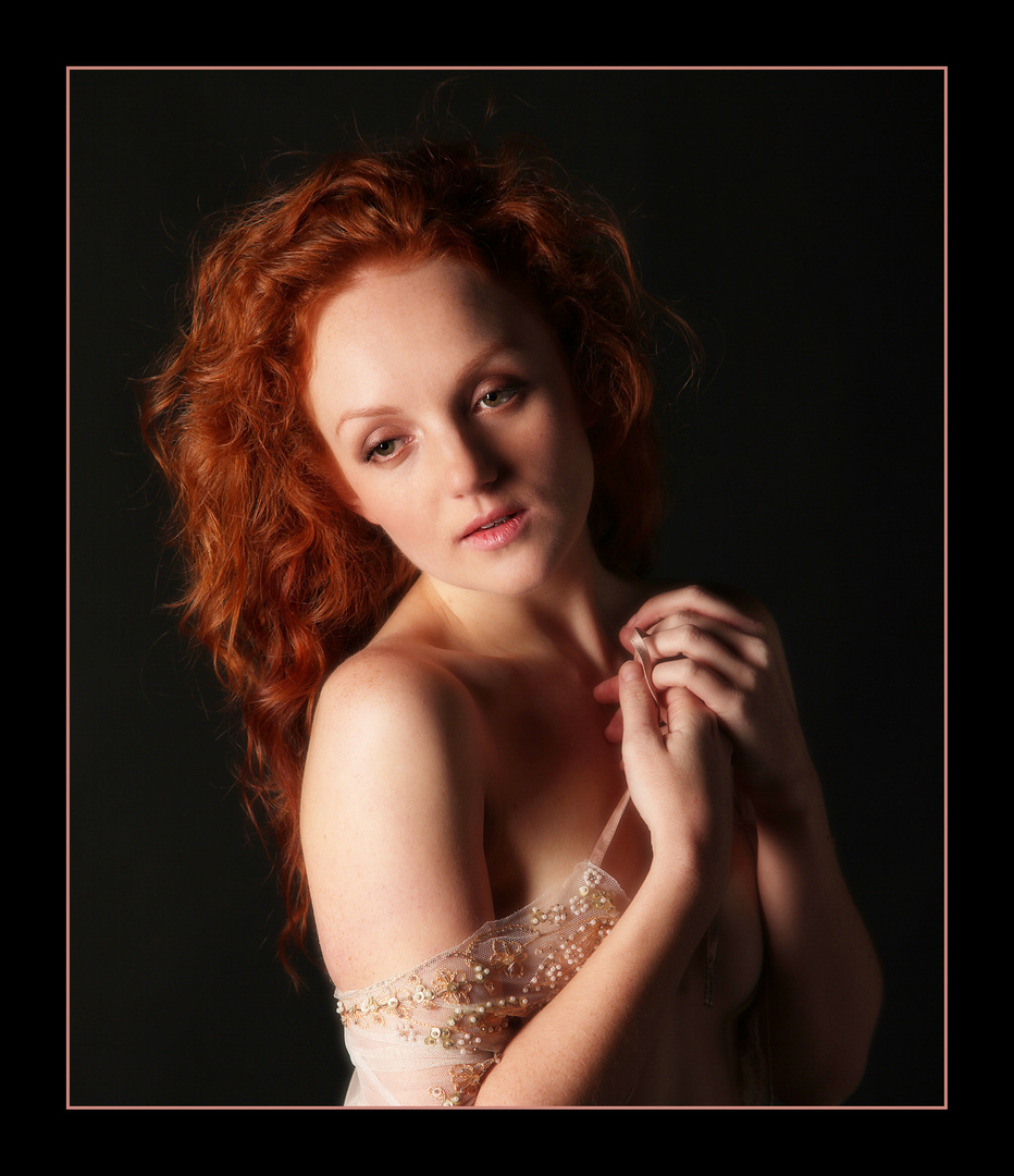 Flame haired
