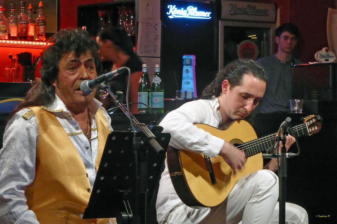Flamencoabend im Börsencafé Neuss - Sänger-Gitarrenspieler