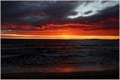 Flaming sky...