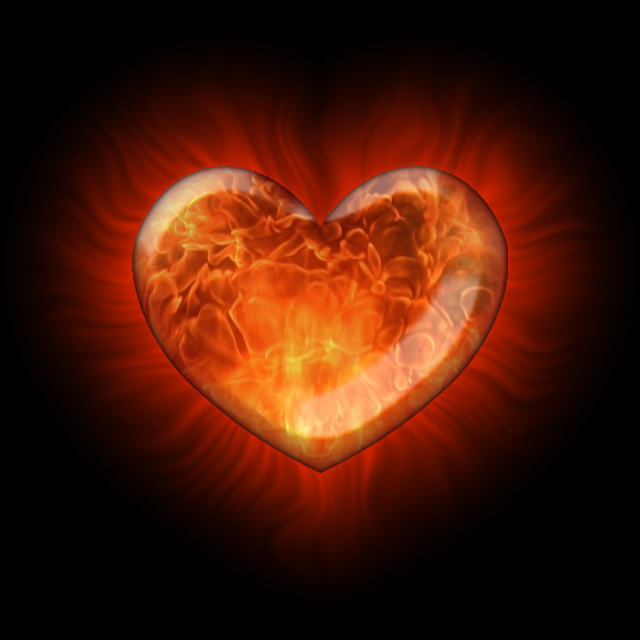 Flamme im Herzen