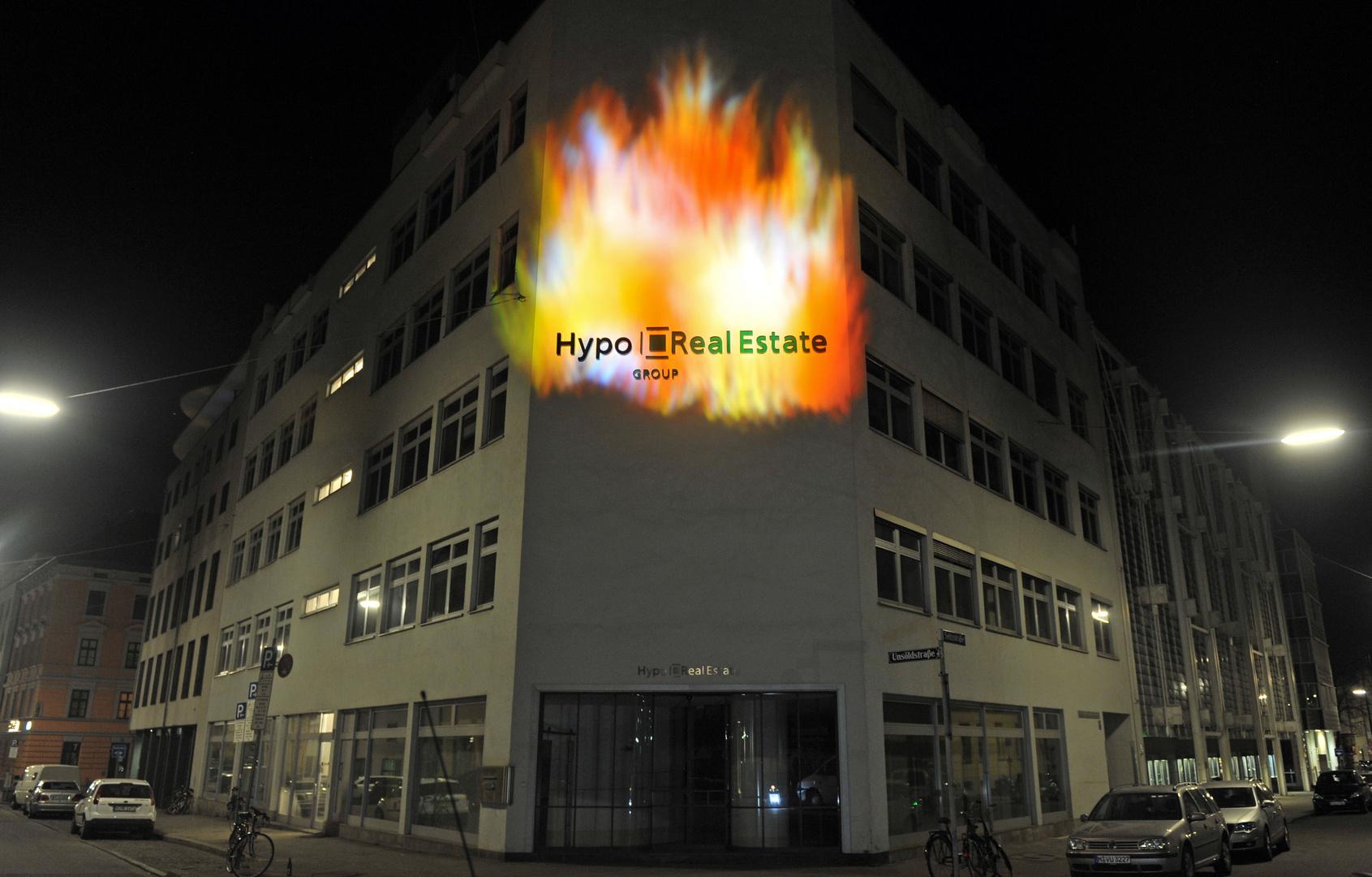 Flammen auf der Hypo Real Estate