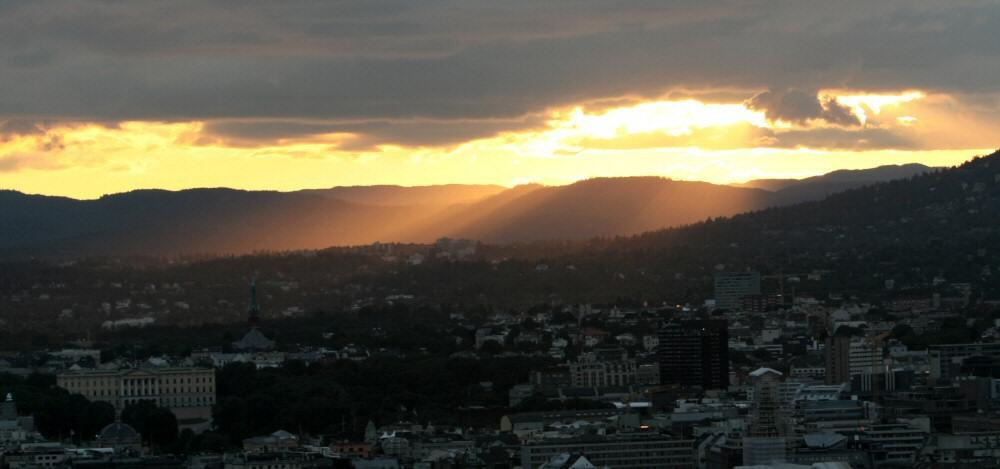 Flammen über Oslo