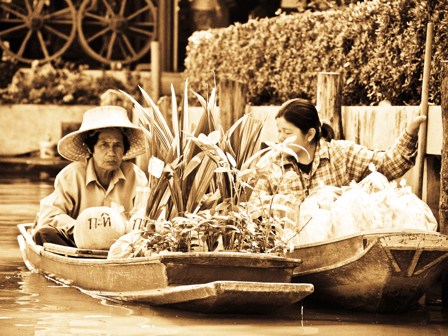 Flaoting markets Bangkok
