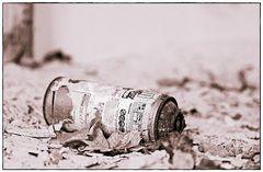Flasche ganz leer